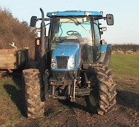 Image of modern tractor