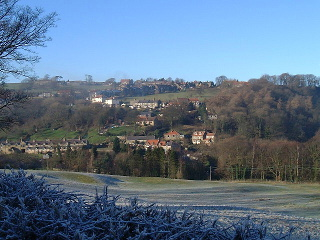 A view of a frosty morning in Glaisdale