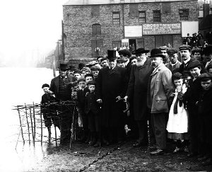A photograph of the penny hedge ceremony at Whitby