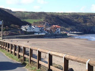 A view of Sandsend, nr Whitby, North Yorkshire