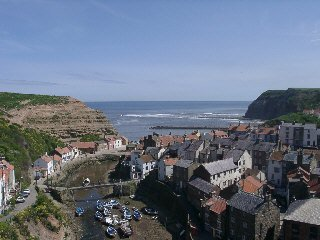 A view of Staithes Harbour